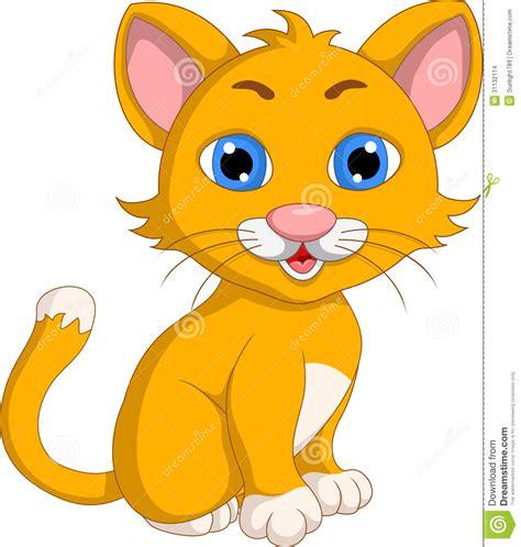 Cute Cat Cartoon Expression Stock Illustration