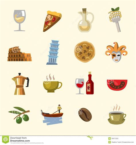 cuisine design italien vector italy icons set stock photos image 35971253