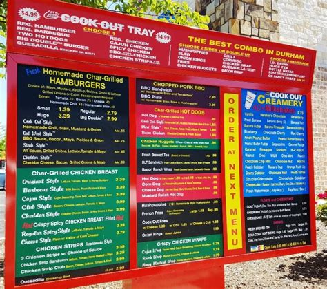 cookout menu cook out burger and milkshake heaven in north carolina nc triangle dining
