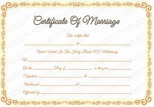 marriage certificate template certificate templates With wedding certificate templates free printable