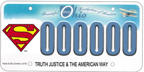 ohio bureau of motor vehicles superman license plate is coming to ohio