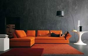 Orange Wohnzimmer Design 40 Bilder