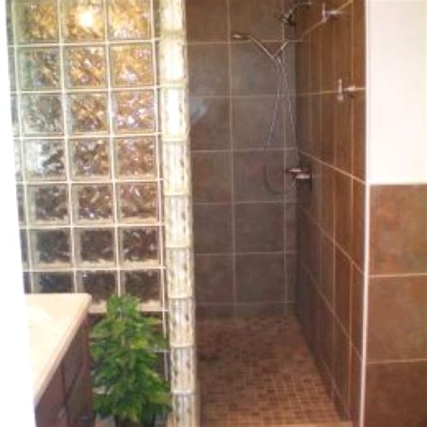 doorless shower finish  basement pinterest tile