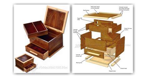 jewellery box plans woodarchivist