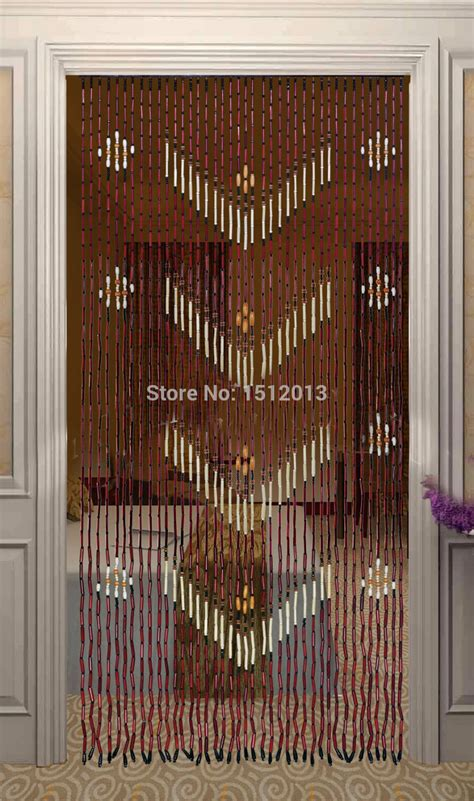 cheap bamboo beaded door curtains bamboo wood bead curtain width 90cm height 180cm