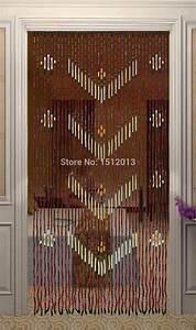 Rideau Porte D Entrée : bois de bambou perles de rideau largeur 90 cm hauteur 180 ~ Dailycaller-alerts.com Idées de Décoration