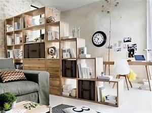 étagère Séparation De Pièce : bibliothequeflyseparationpiece decorating ideas for the ~ Premium-room.com Idées de Décoration