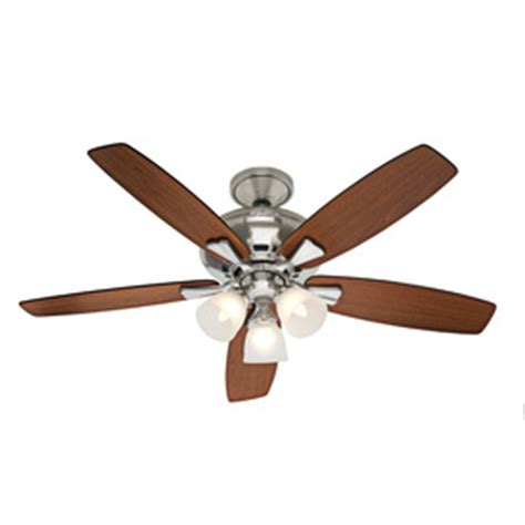 hunter 52 winslow brushed nickel ceiling fan shop hunter 52 in winslow brushed nickel ceiling fan with