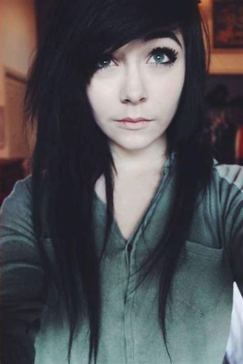 jet black hair  amazing   pale complexion