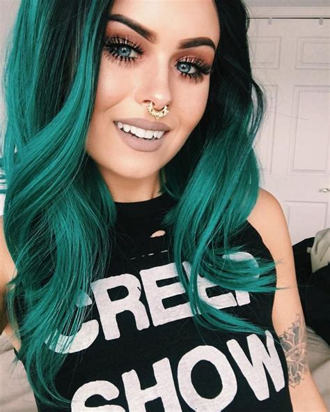 Hair Colors For With Green by 30 Teal Hair Dye Shades And Looks With Tips For Going Teal