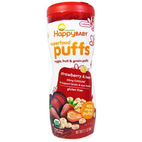 Happy Baby Organic Puff nurture inc happy baby organics superfood puffs
