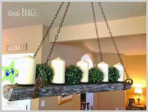 Reclaimed wood candle chandelier musely