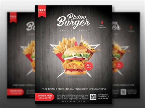 Snack and food glass container mockups. Fast Food Flyer Mockup Free Download 2020 - Daily Mockup