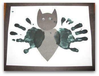 books crafts recipes and more for preschool 224   bat handprint