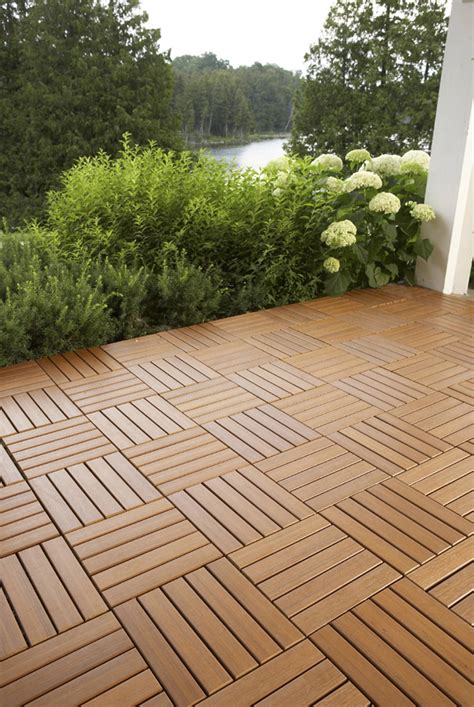 Quick Deck Tiles hardwood deck tiles