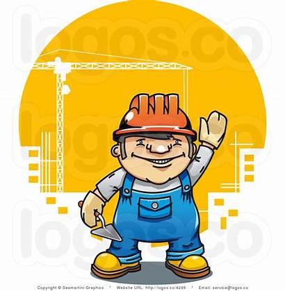 Construction Cartoon Building Builder Tools Funny Vector