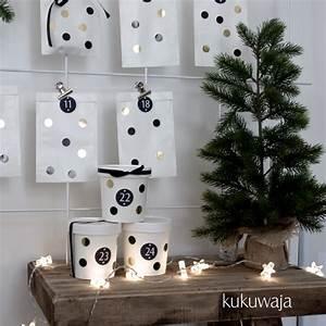 Adventskalender Tüten Depot : scandiliebe by kukuwaja adventskalender gold black ~ Watch28wear.com Haus und Dekorationen