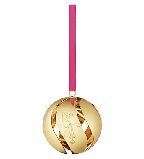 georg jensen christmas collectibles gold plated ball