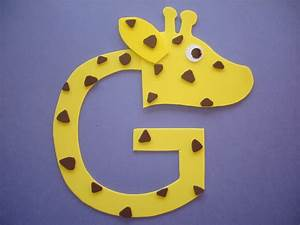 letter g crafts preschool and kindergarten With arts and crafts letters