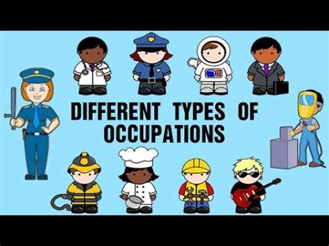 types  occupations learning  jobs