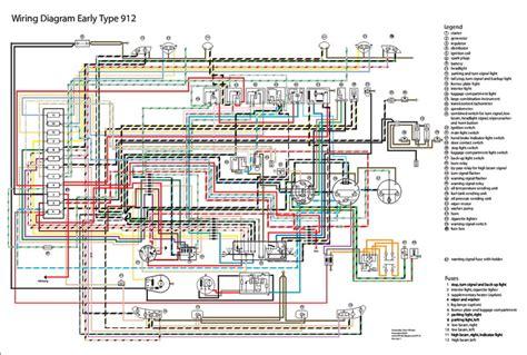 1975 911 Tach Wiring Diagram by Electrisch Schema 912 65 67 Elektrische Installatie