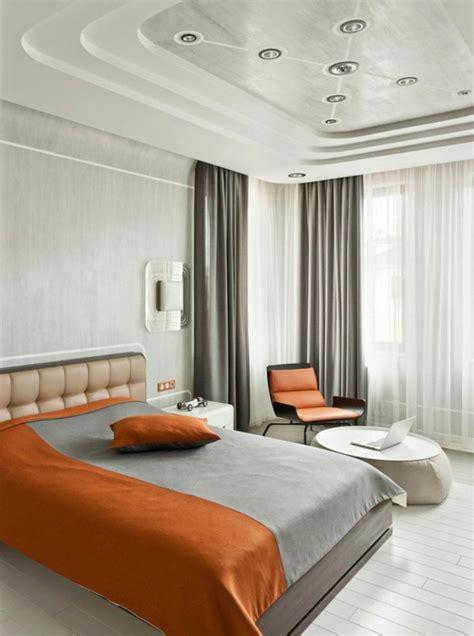 des faux plafond plâtre pour chambre à coucher plafond