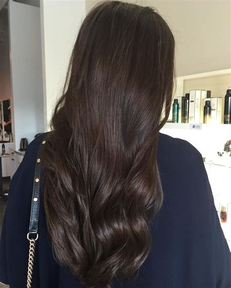 dark brown ideas  pinterest dark hair colours