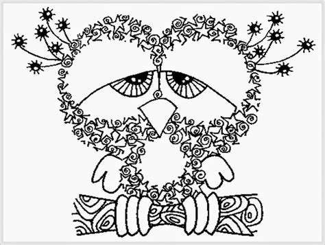 owl coloring pages  adults  coloring pages