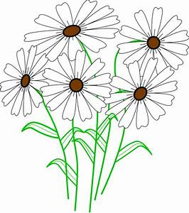 White Daisy Bunch Clip Art at Clker.com - vector clip art ...