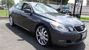 2006 LEXUS GS 300 WITH 20 INCH CUSTOM CHROME RIMS TIRES