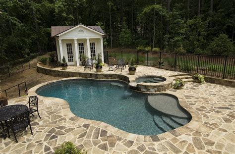 atlanta pool builder freeform  ground swimming pool