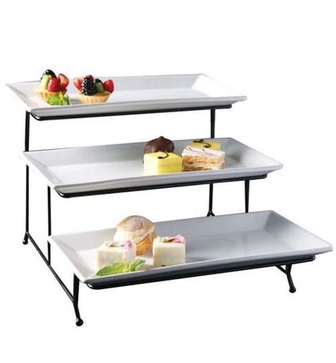tiered serving tray rectangular occasions event designs
