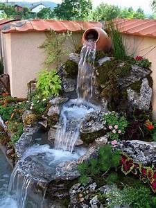 Sellette Pour Plante : petite cascade de jardin pour embellir l 39 espace ext rieur ~ Premium-room.com Idées de Décoration