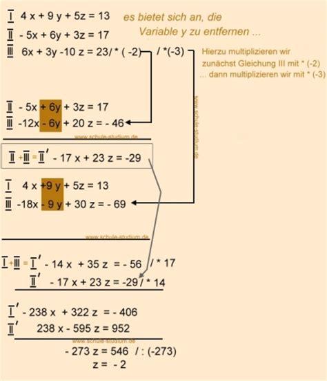 lineare gleichungssystem mit  variablen uebungsaufgaben