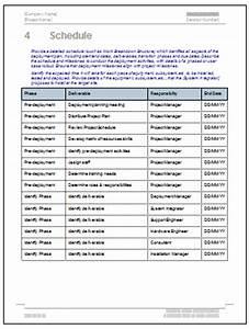 deployment plan template software software templates With software deployment document template