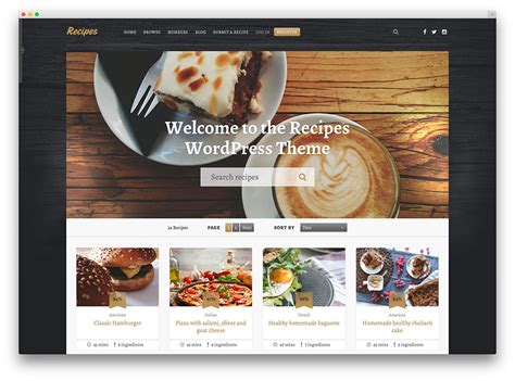 awesome food wordpress themes  share recipes
