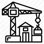 Crane Icon Construction Building Easy Scaffolding Vector