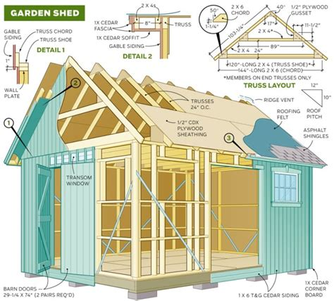 wood shed plans collection      wood