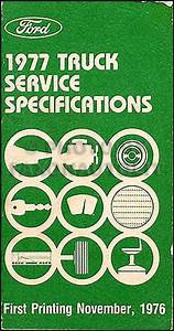 1977 Ford Truck Repair Shop Manual 5 Volume Set Pickup Van