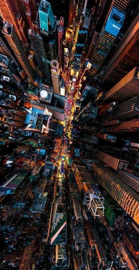 travel night drone usa  york city manhattan