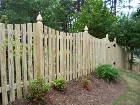 Stunning Wood Fence Pickets With Lawn And