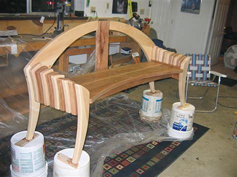 maple  cherry garden bench woodworking blog