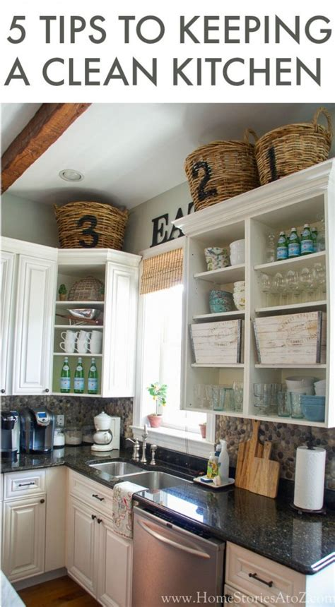 tips  keeping  clean kitchen