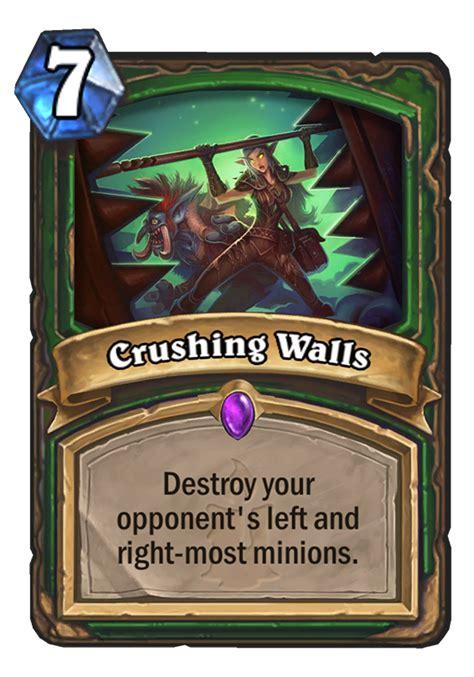 crushing walls hearthstone card