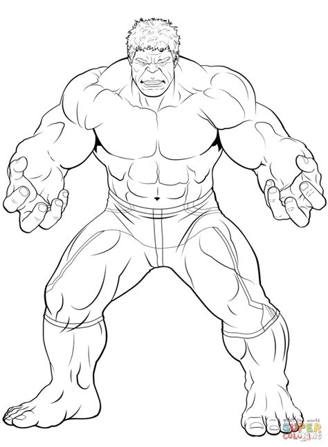 avengers coloring pages  hulk printable