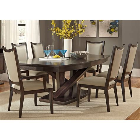 liberty furniture springfield  piece pedestal table set