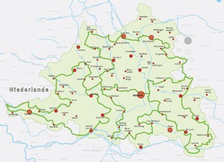 Radwege Münsterland Karte