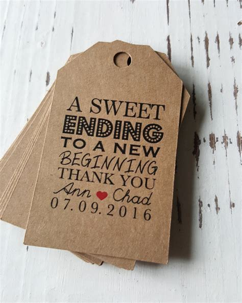 favor tags with bakers twine thank you tags a sweet