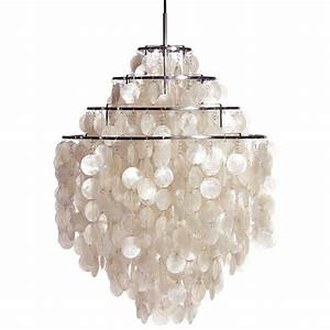 Furniture capiz shell chandelier and