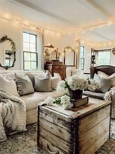 Rustic, Cozy, Traditional, Living, Room, Decor